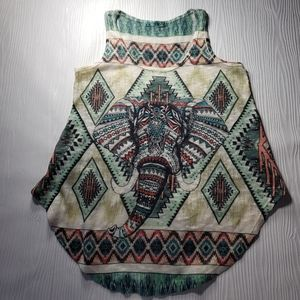 Gaze tribal elephant knit tank Sz s?